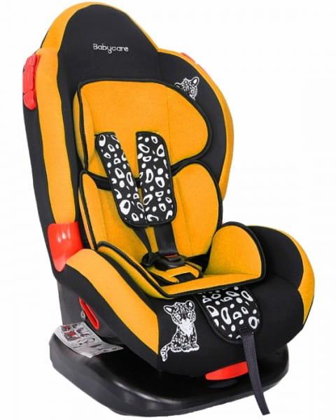 Детское автомобильное кресло Baby Care Люкс Леопардик оранжевый