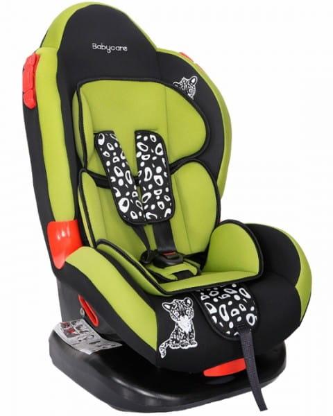 Детское автомобильное кресло Baby Care Люкс Леопардик зеленый