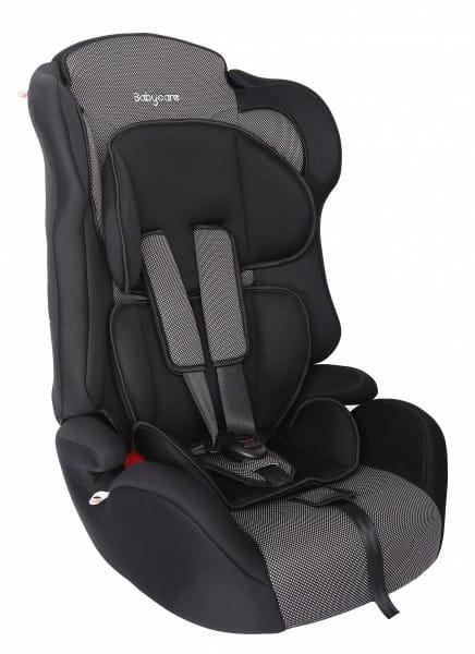 Детское автомобильное кресло Baby Care Люкс Жирафик серый карбон