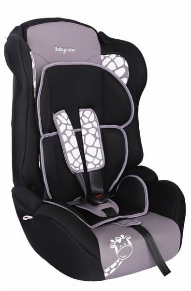 Детское автомобильное кресло Baby Care Люкс Жирафик серый