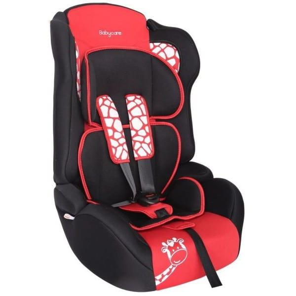 Детское автомобильное кресло Baby Care BC-513LUX Люкс Жирафик красный