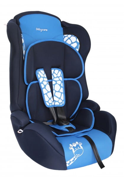 Детское автомобильное кресло Baby Care Люкс Жирафик синий