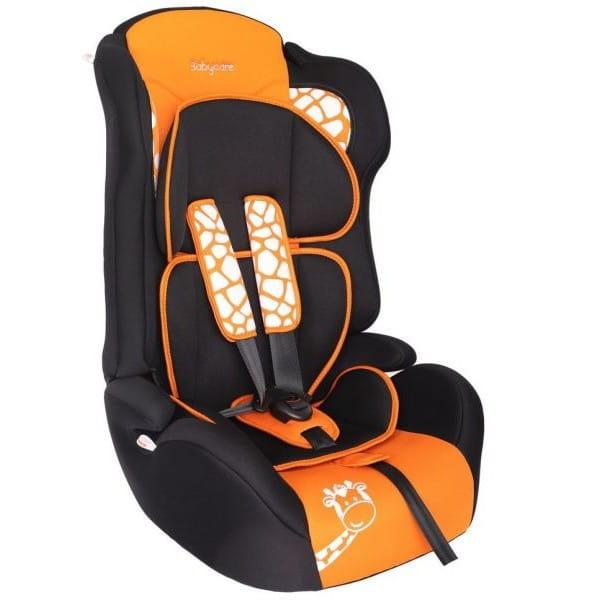 Детское автомобильное кресло Baby Care Люкс Жирафик оранжевый