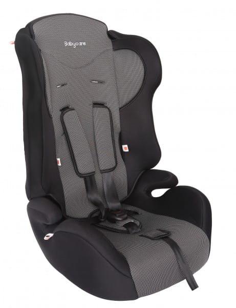 Детское автомобильное кресло Baby Care Жирафик серый карбон