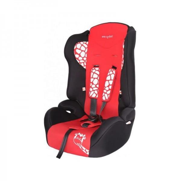 Детское автомобильное кресло Baby Care Жирафик красный