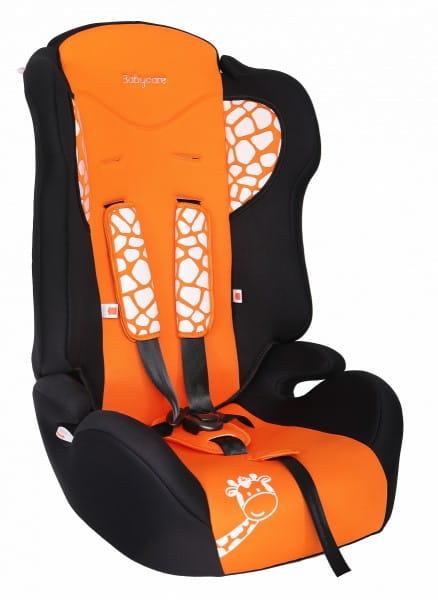 Детское автомобильное кресло Baby Care Жирафик оранжевый