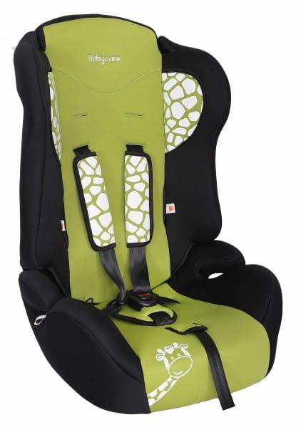Детское автомобильное кресло Baby Care Жирафик зеленый