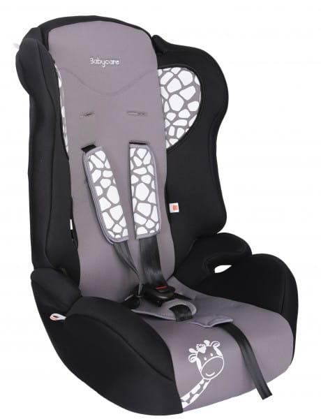 Детское автомобильное кресло Baby Care Жирафик серый