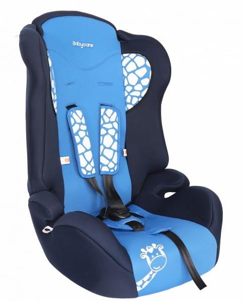 Детское автомобильное кресло Baby Care Жирафик синий