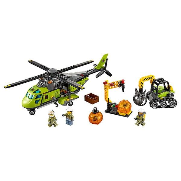 Конструктор Lego 60123 City Лего Сити Грузовой вертолет исследователей вулканов