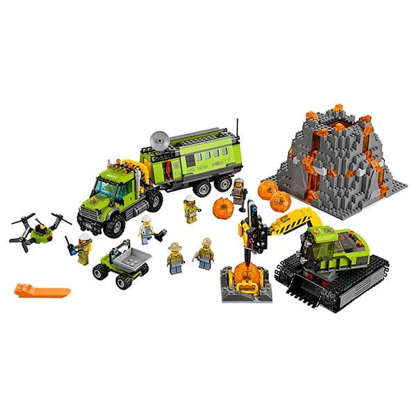 Конструктор Lego City Лего Сити База исследователей вулканов