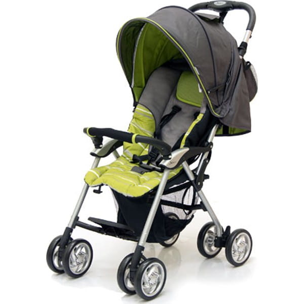 Купить Коляска прогулочная Jetem Elegant Dark Grey-Green (в полоску) в интернет магазине игрушек и детских товаров