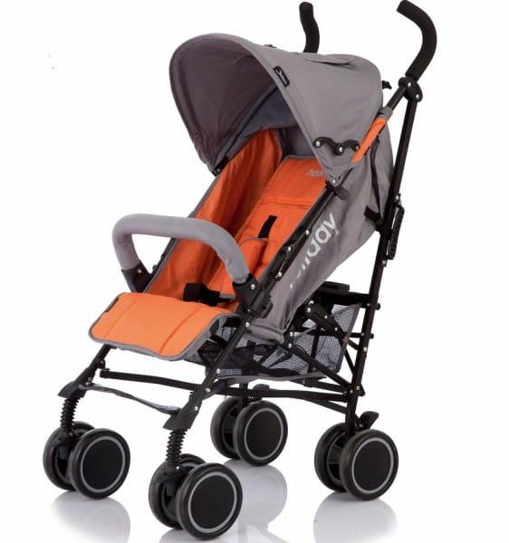 Купить Коляска-трость Jetem Holiday Orange-Grey в интернет магазине игрушек и детских товаров