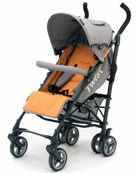 Купить Коляска-трость Jetem Twist Orange-Grey в интернет магазине игрушек и детских товаров