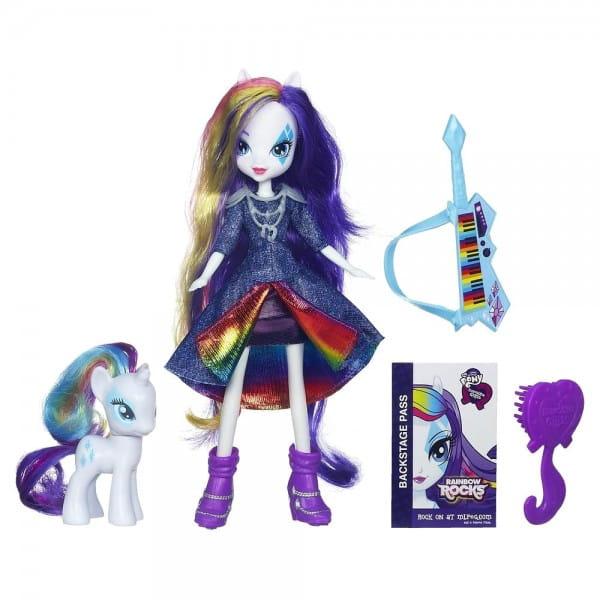 Купить Кукла My Little Pony Equestria Girls с пони Rarity - 23 см (Hasbro) в интернет магазине игрушек и детских товаров