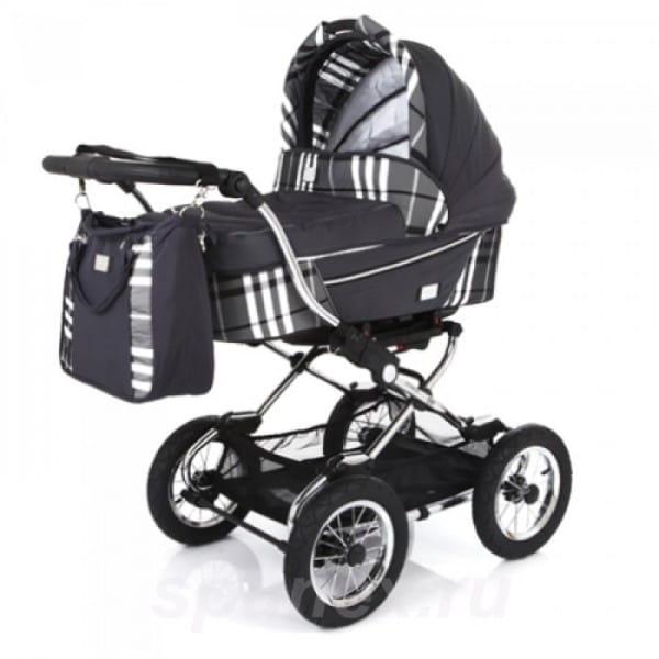 Купить Коляска классическая Baby Care Sonata Dark Grey в интернет магазине игрушек и детских товаров