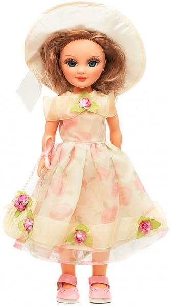 Кукла Весна Анастасия в светлом платье и шляпке (со звуком)