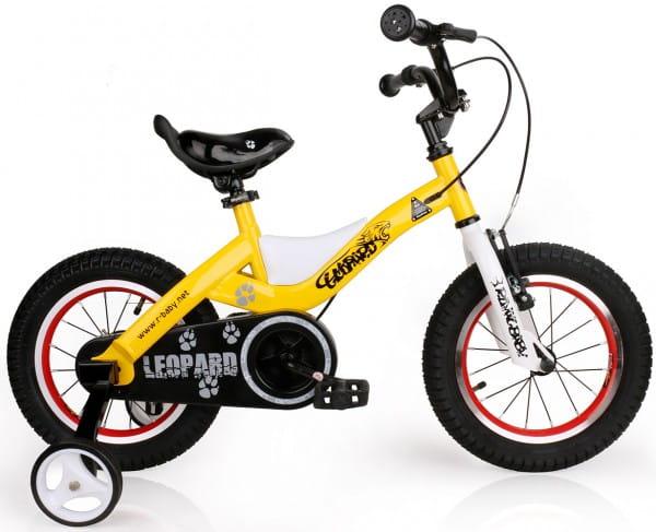 Купить Детский велосипед Royal Baby Leopard Steel - 14 дюймов в интернет магазине игрушек и детских товаров