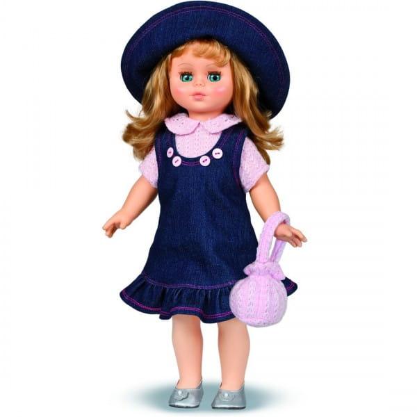 Кукла Весна Оля в синем платье и шляпке (со звуком)