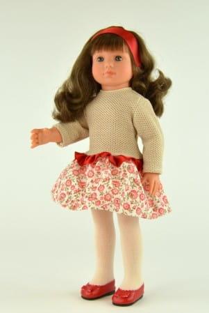 Купить Кукла Asi Нелли - 43 см (в платье и красных туфельках) в интернет магазине игрушек и детских товаров