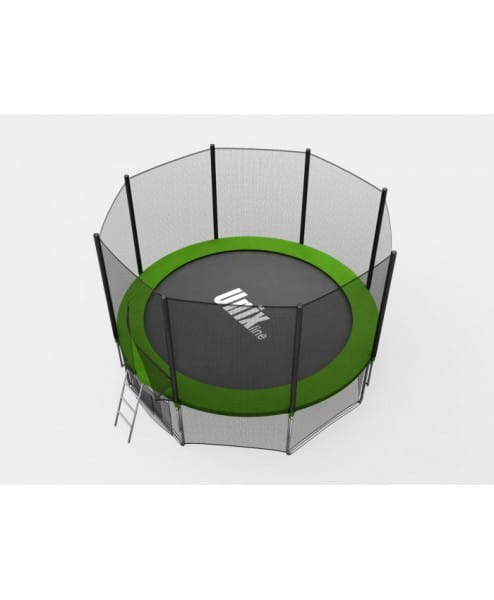 Батут Unix с внешней сеткой и лестницей 6 футов - 183 см (зеленый)