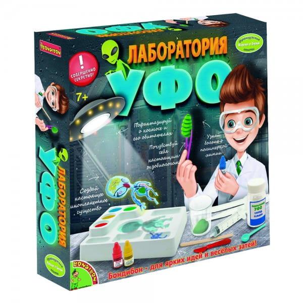 Купить Набор Bondibon Французские опыты Науки с Буки - Лаборатория УФО в интернет магазине игрушек и детских товаров