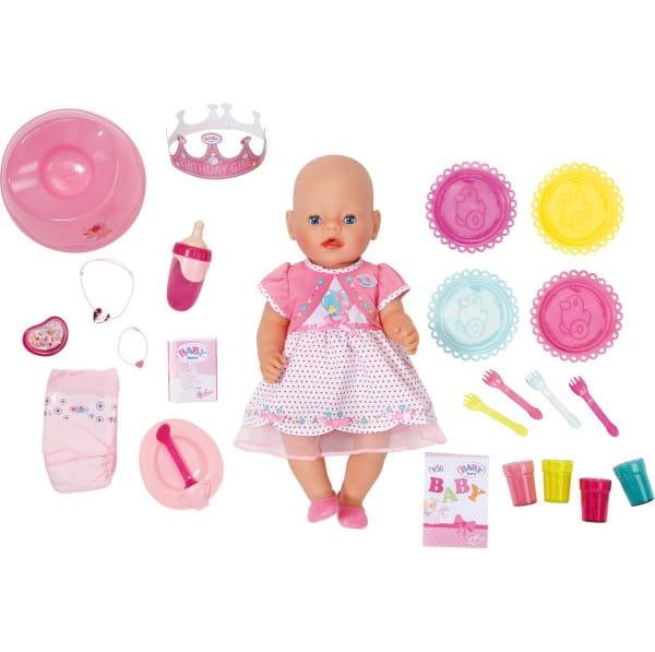 Купить Интерактивная кукла Baby Born Праздничная - 43 см (Zapf Creation) в интернет магазине игрушек и детских товаров