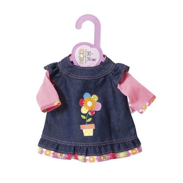 Купить Джинсовое платье Zapf Creation для кукол 30-36 см в интернет магазине игрушек и детских товаров