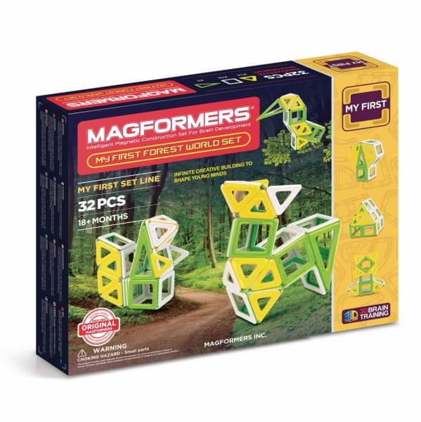 Купить Магнитный конструктор Magformers My First Forest (32 детали) в интернет магазине игрушек и детских товаров