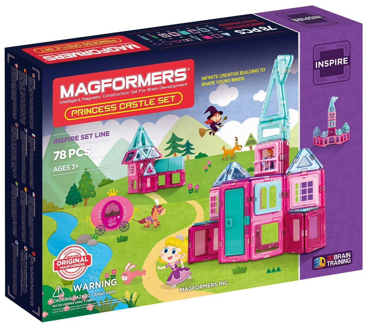Магнитный конструктор Magformers 704004 Princess castle (78 деталей)