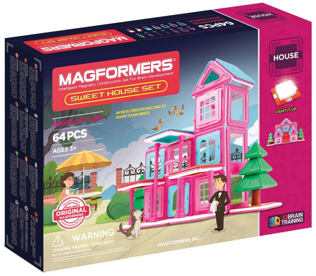 Магнитный конструктор Magformers 705001 Sweet House Set (64 детали)