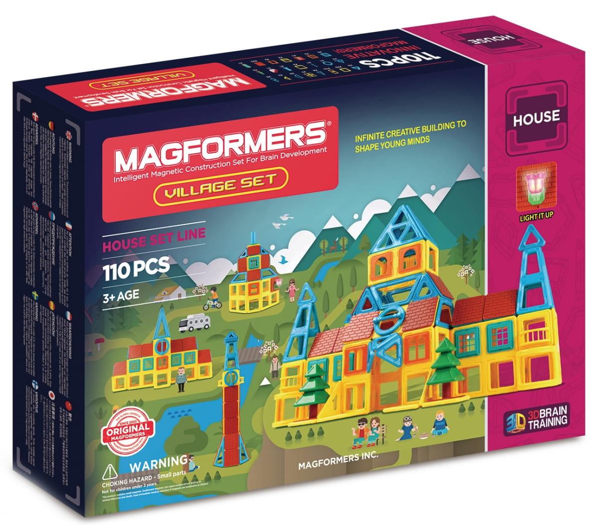Магнитный конструктор Magformers 705002 Village Set (110 деталей)