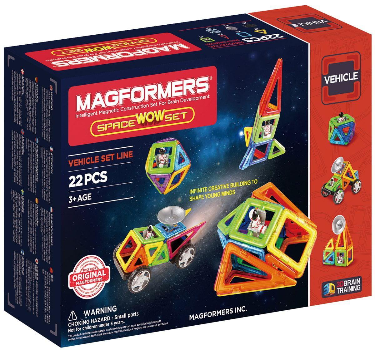 Магнитный конструктор Magformers 707009 Space Wow Set (22 детали)
