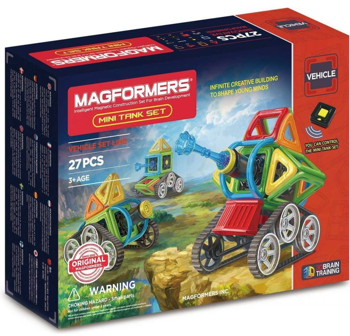 Магнитный конструктор Magformers 707010 Mini Tank Set (27 деталей)
