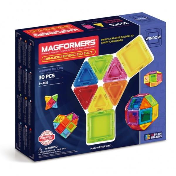Купить Магнитный конструктор Magformers Window Basic set (30 деталей) в интернет магазине игрушек и детских товаров