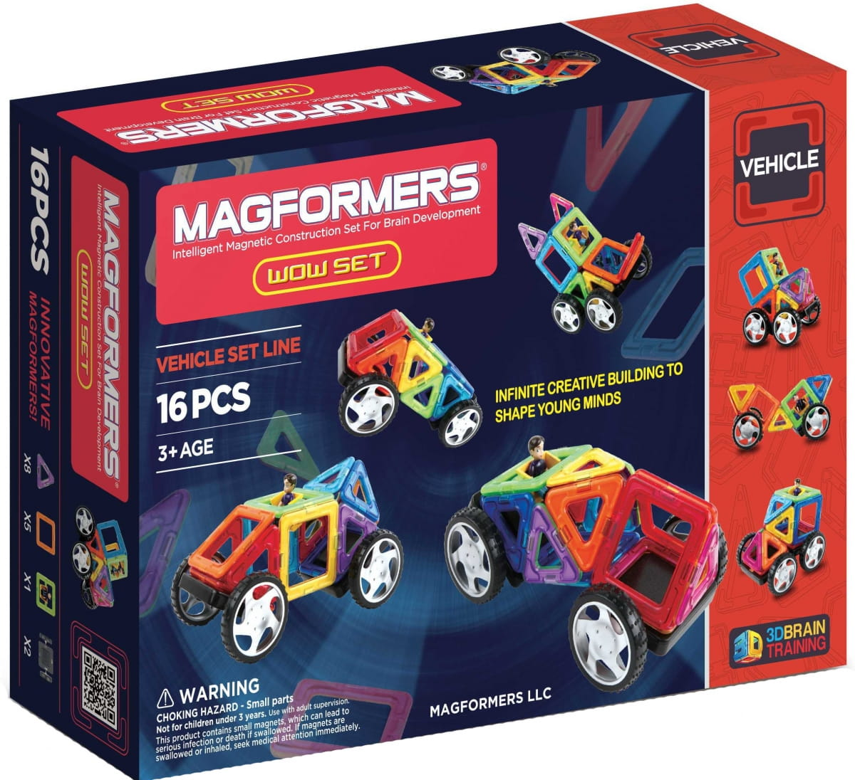 Магнитный конструктор MAGFORMERS Power Vehicle Set (81 деталь) - Конструкторы Magformers