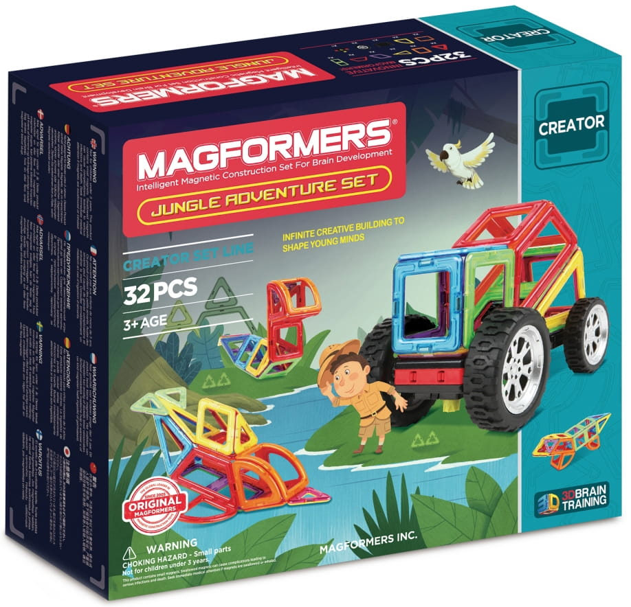 Магнитный конструктор Magformers 703009 Adventure Jungle set (32 детали)