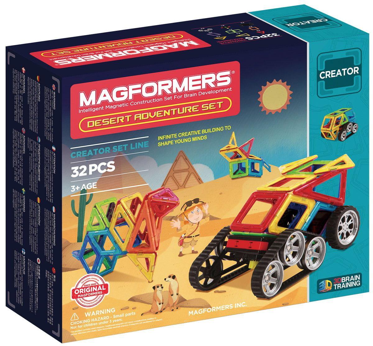 Магнитный конструктор Magformers 703010 Adventure Desert set (32 детали)