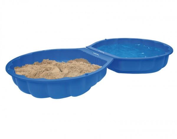 Песочница Big Sand Ракушка - синяя (2 части)