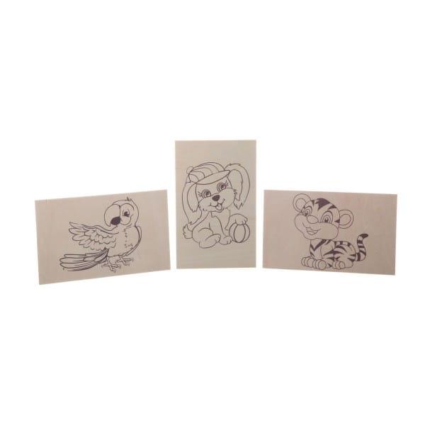 Купить Набор Bondibon Французское творчество Досуг с Буки Основы для выжигания с рисунками - 3 штуки в интернет магазине игрушек и детских товаров