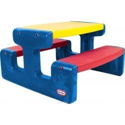 Купить Большой стол Little Tikes с двумя скамейками (на 6 детей) в интернет магазине игрушек и детских товаров