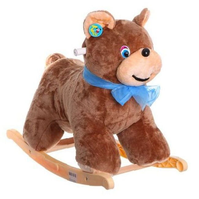 Мягкая качалка Тутси Р71185 Медведь - коричневая