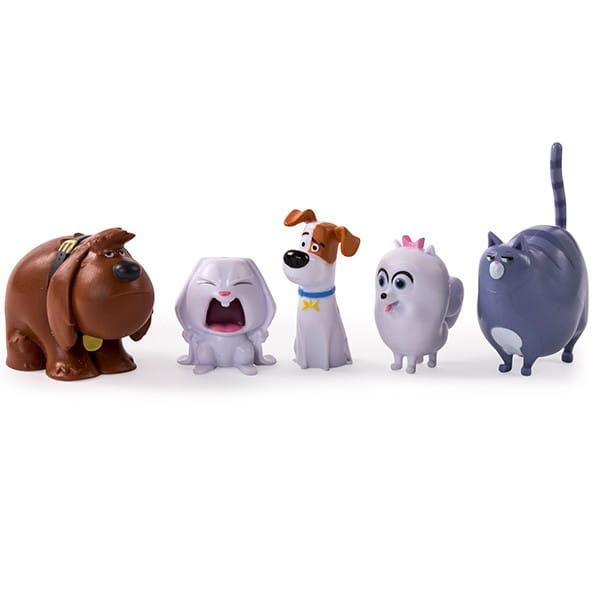 Игровой набор мини-фигурок Secret Life of Pets Тайная жизнь домашних животных 5 героев