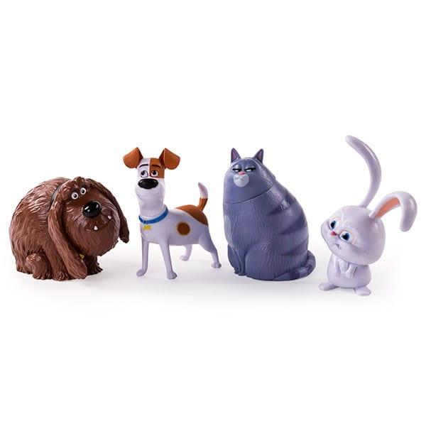 Игровой набор фигурок Secret Life of Pets Тайная жизнь домашних животных 4 героя
