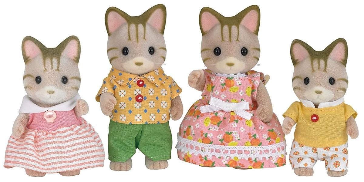 Игровой набор Sylvanian Families 5180 Семья полосатых кошек