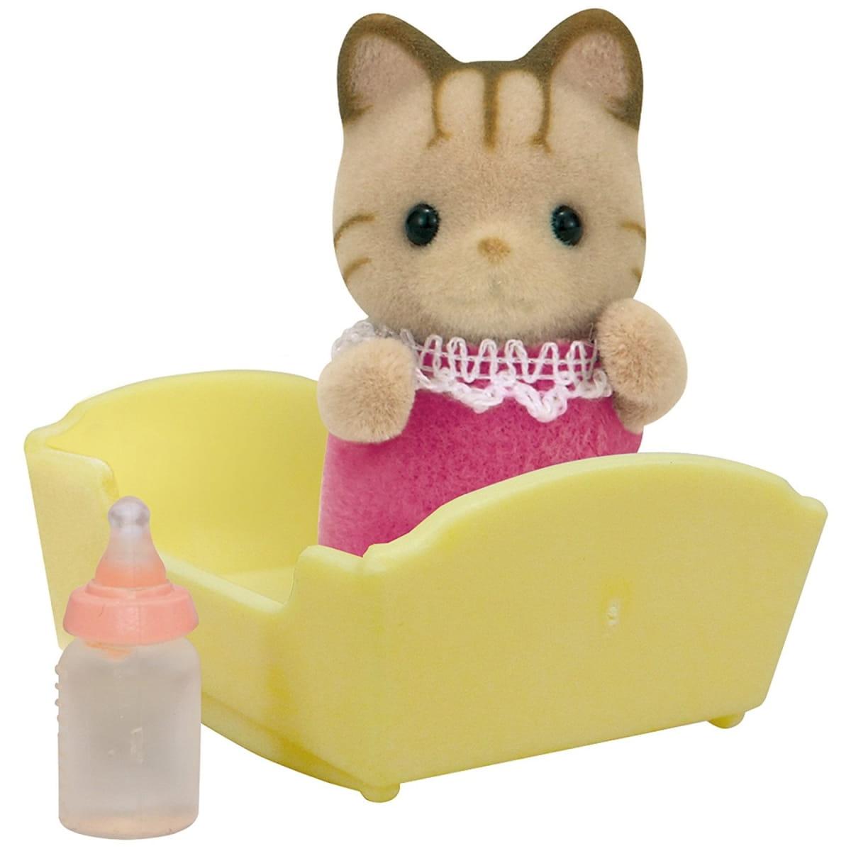 Игровой набор Sylvanian Families 5186 Малыш полосатый котенок