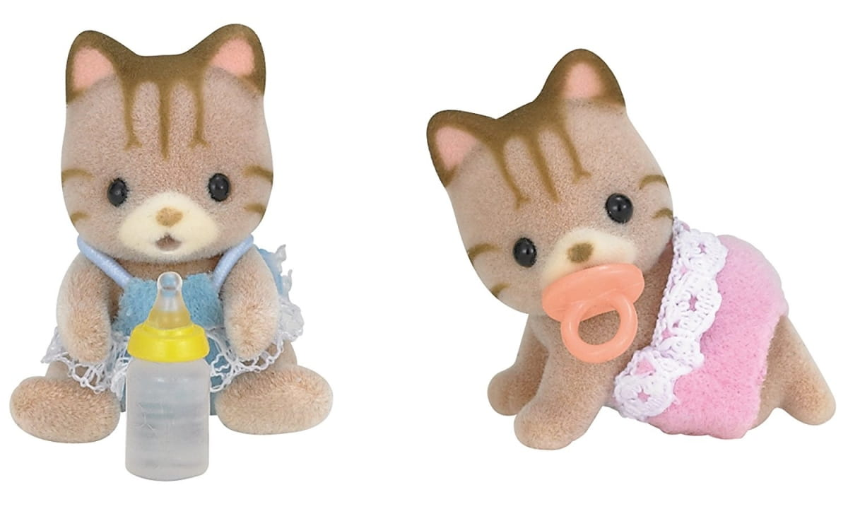 Игровой набор Sylvanian Families 5188 Полосатые котята-двойняшки