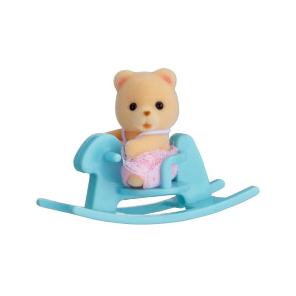 Игровой набор Sylvanian Families Младенец в пластиковом сундучке - медвежонок на качалке