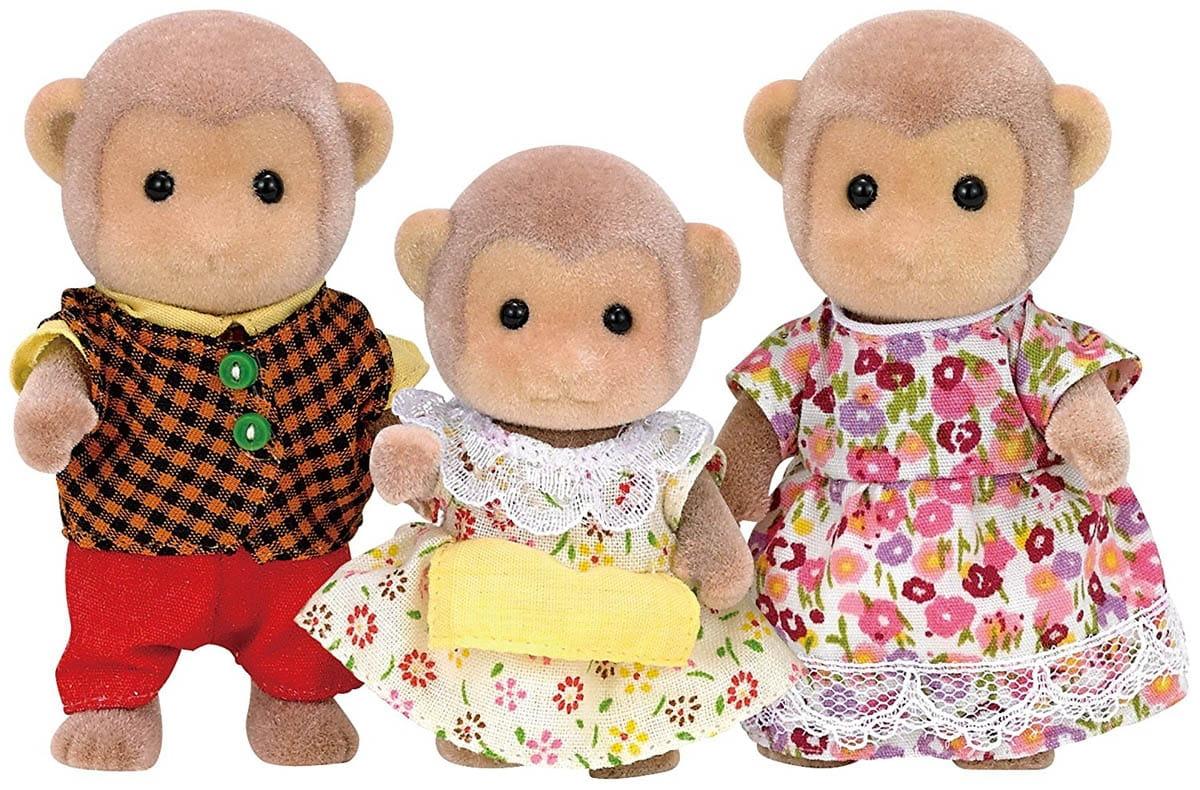 Игровой набор Sylvanian Families 5214 Семья обезьян (3 фигурки)