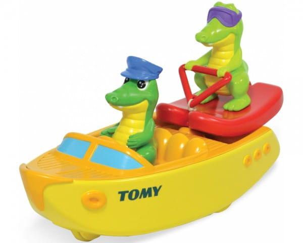 Игрушка для ванны Tomy Bath Крокодил на лодке